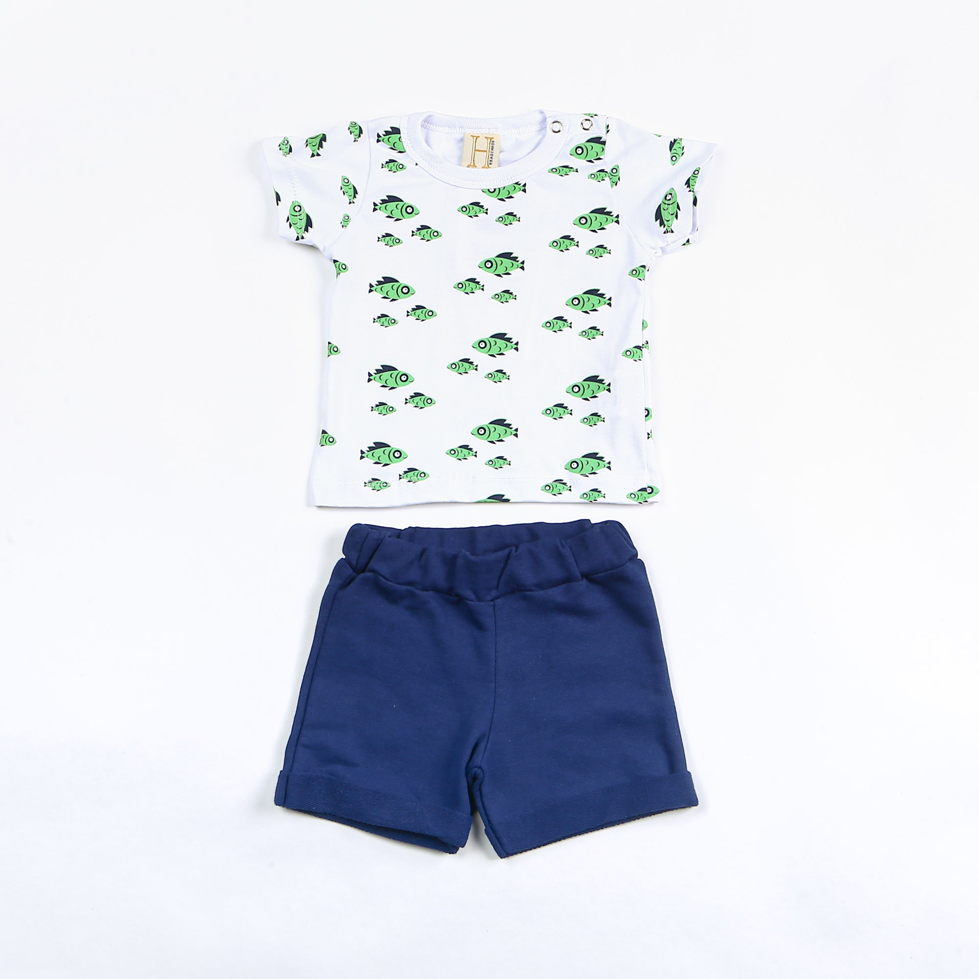 Conjunto Infantil Menino Estampa Peixinhos - Hrradinhos