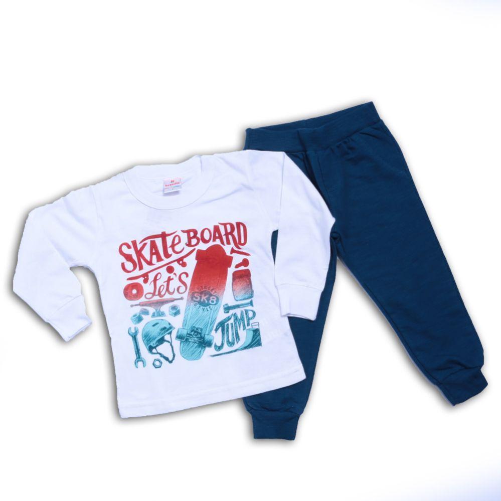 Conjunto Infantil Menino Frase Skate - Brandili