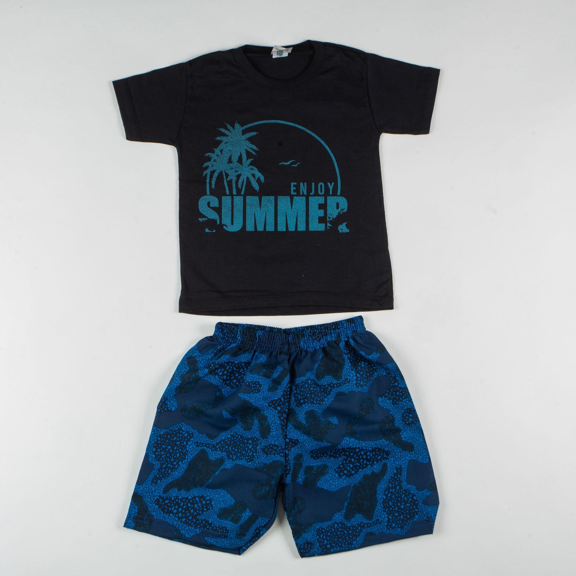 Conjunto Infantil Menino Summer Com Short Tactel