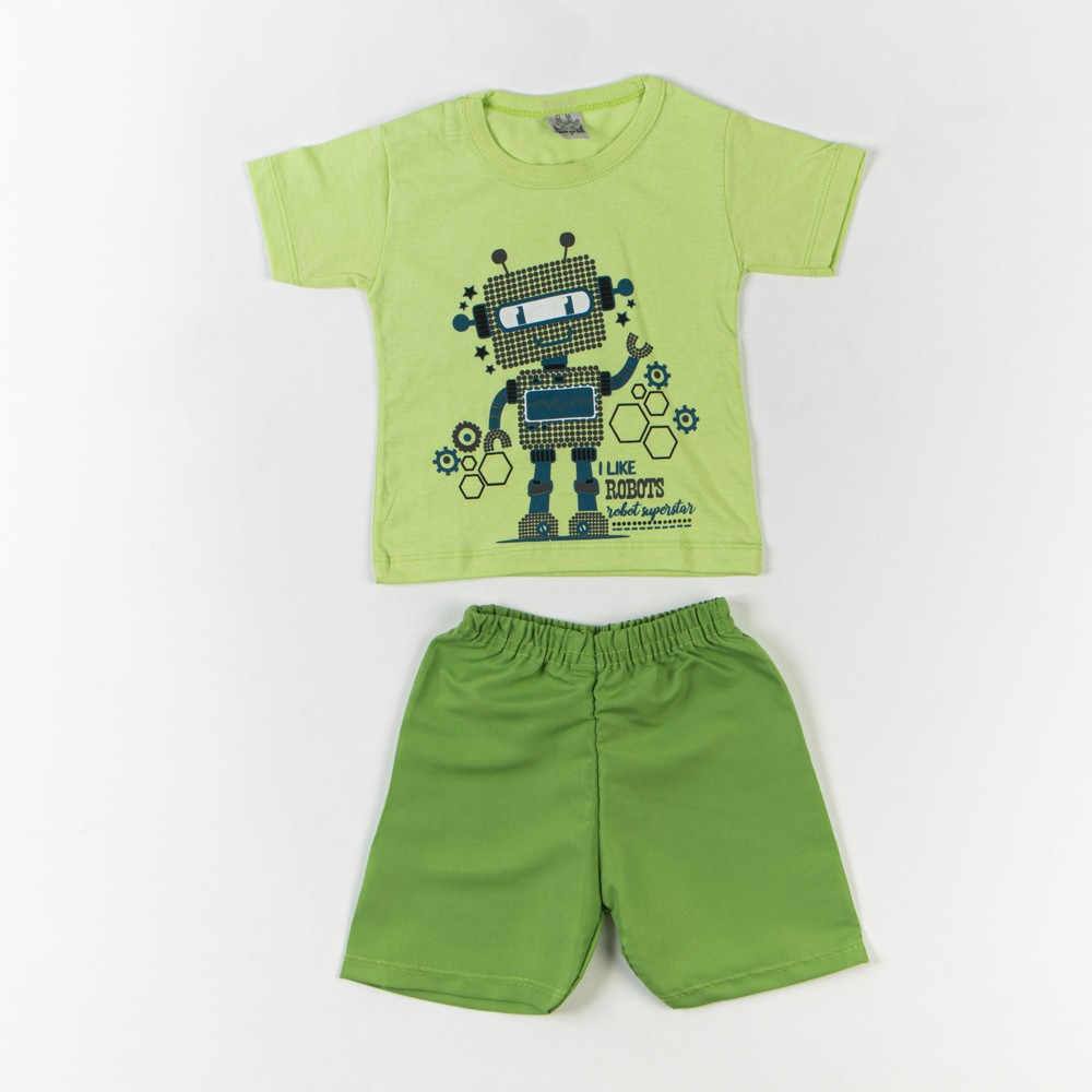 Conjunto 2 Peças Short Tactel e Camiseta Infantil