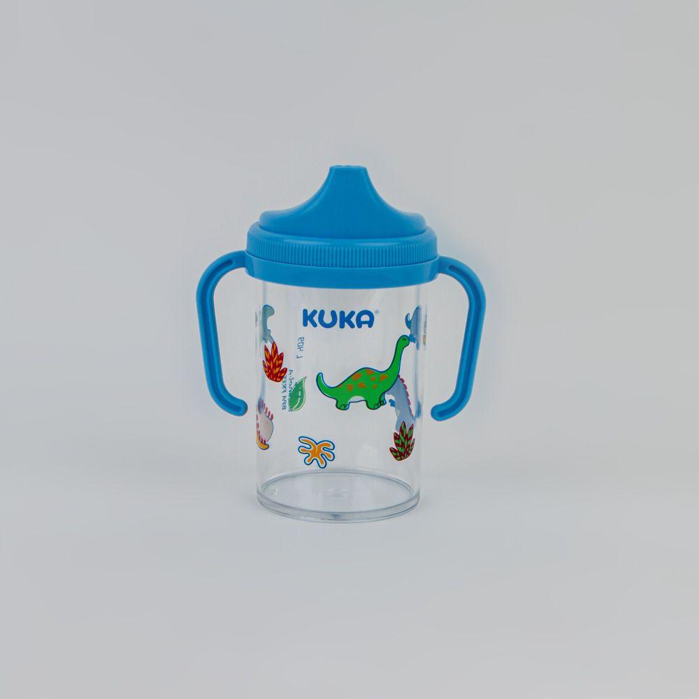 Copo Com Alça Removível Estampado 240 ML Azul Kuka
