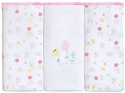 Fralda Estampa Flores Com 3 Unidades 63 x 63 -  Papi