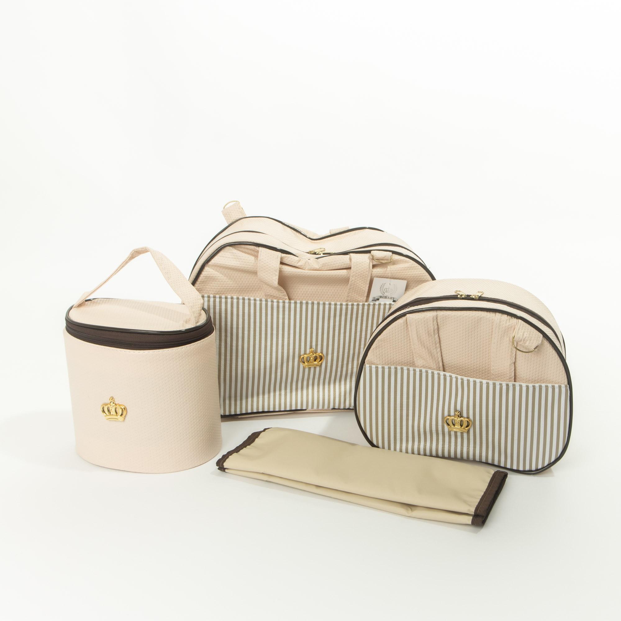 Kit Bolsa De Maternidade 4 Peças Coroa