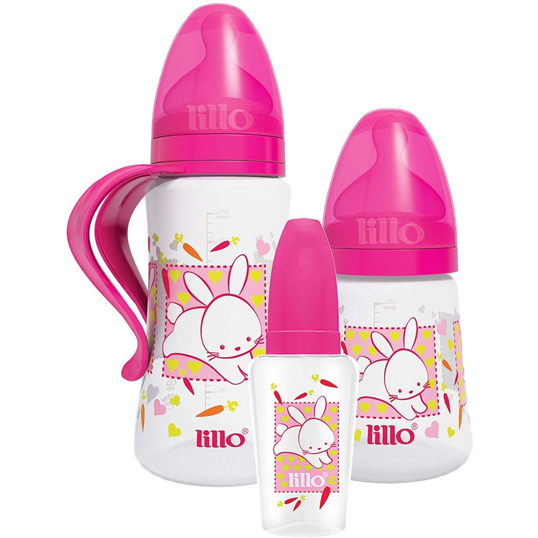 Kit Com 3 Mamadeiras Estampa Bichinhos Lillo