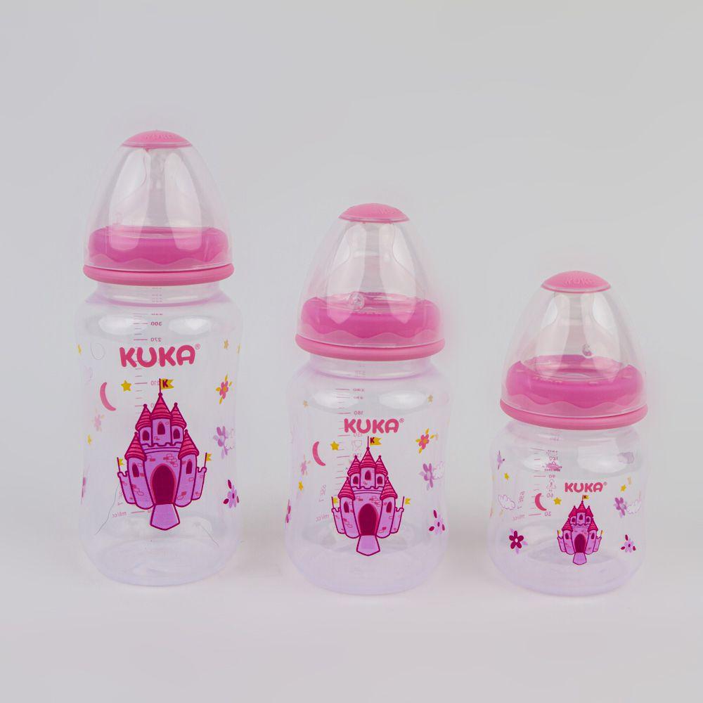 Kit Com 3 Mamadeiras Estampado Rosa Kuka