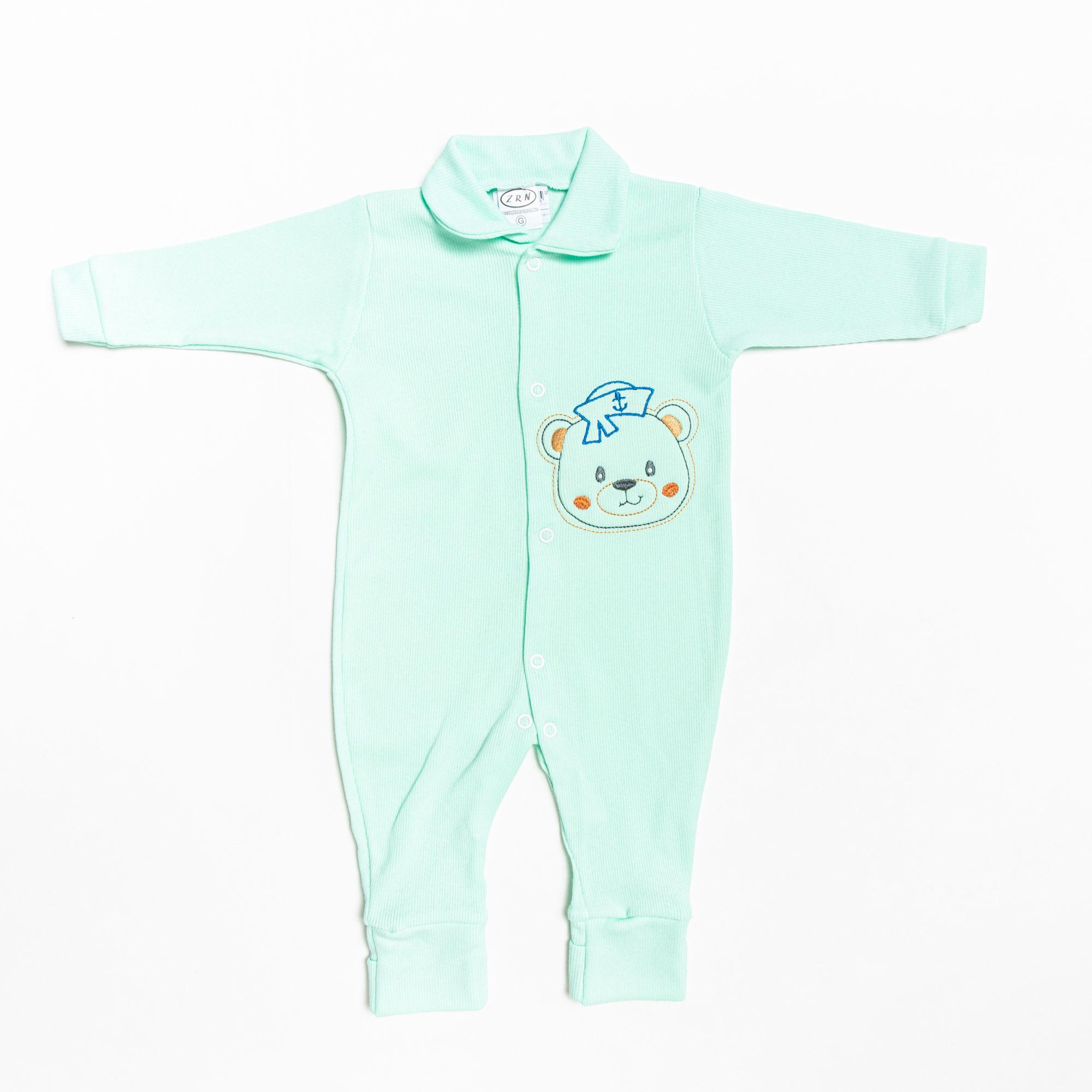 Macacão De Bebê Longo Canelado