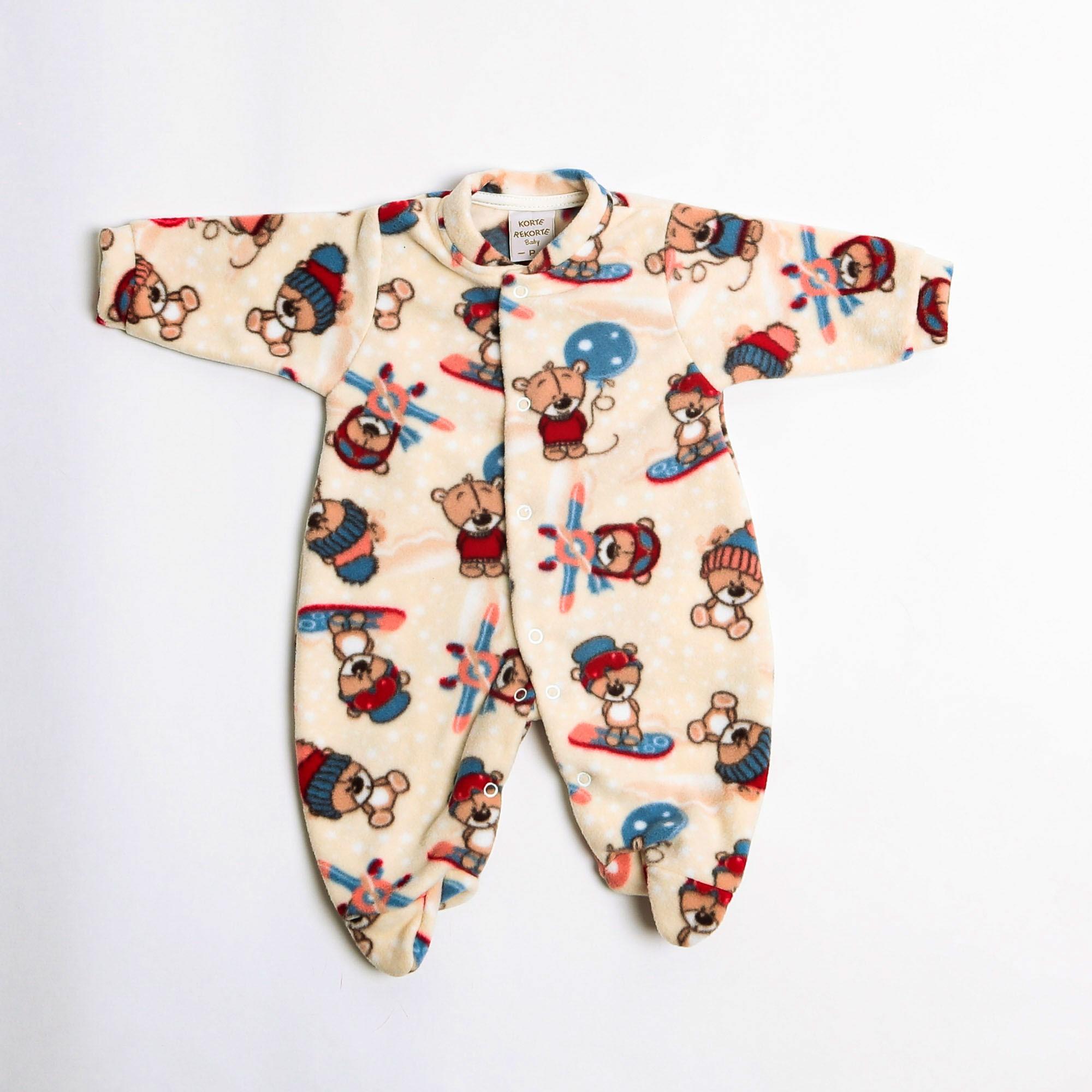 Macacão De Bebê Soft Estampado - Korte Rekorte