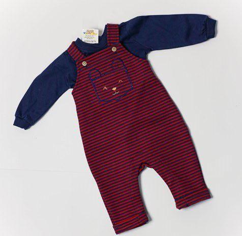Macacão Jardineira Longa Ted Bebê Vaninha Baby