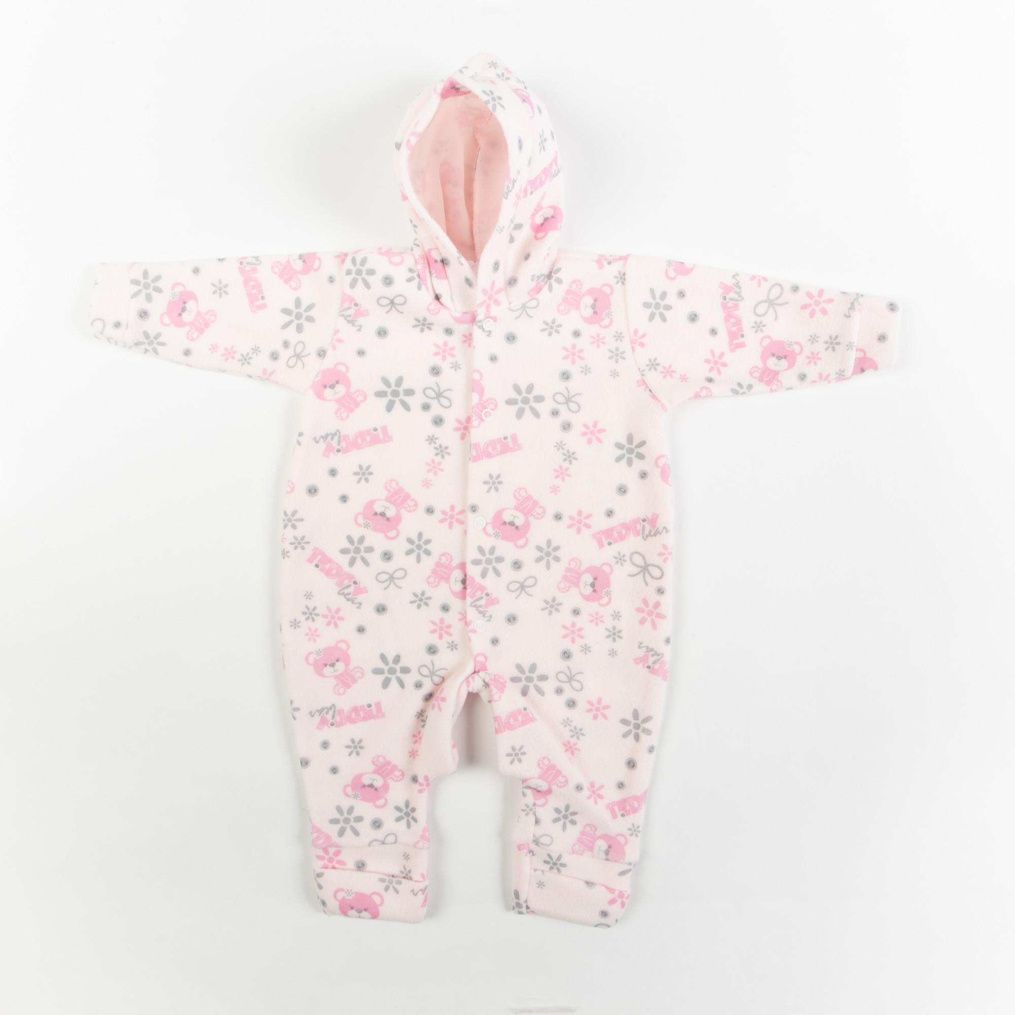Macacão Soft Bebê Estampado Com Capuz