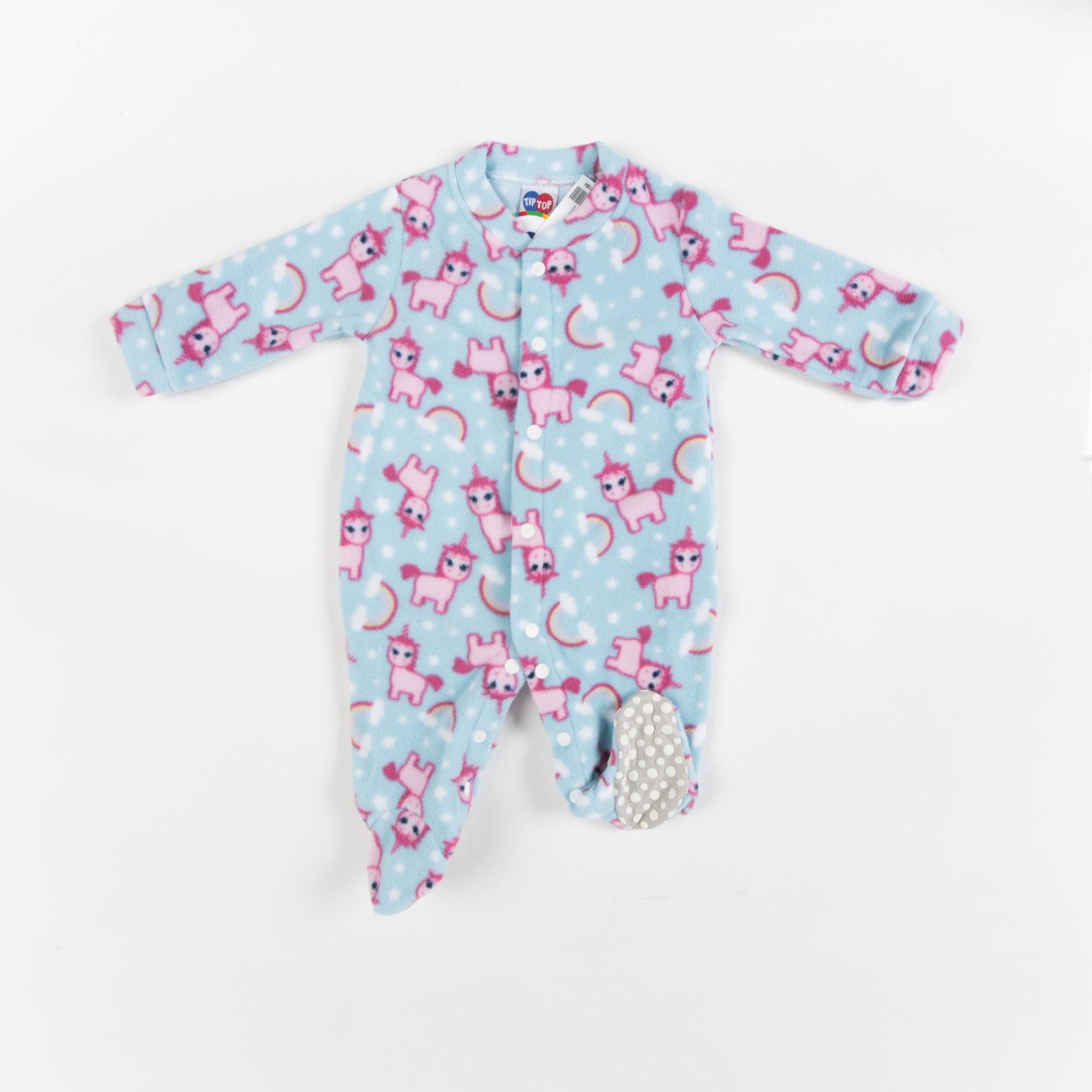 Macacão Soft Longo Com Pé Bebê -Tip Top