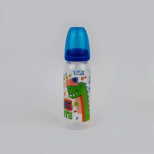 Mamadeira Estampada Dino 240 ML Azul Lillo