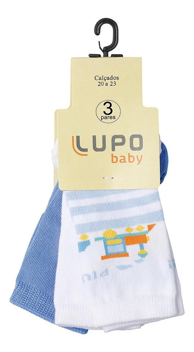 Meia Lupo Baby Menino Kit Com 3 Pares - Lupo