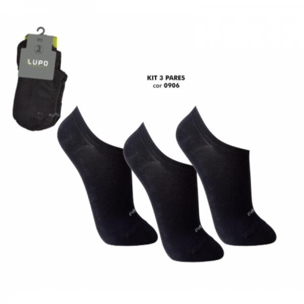 Meia Lupo Sport Kit Com 3 Pares - Lupo