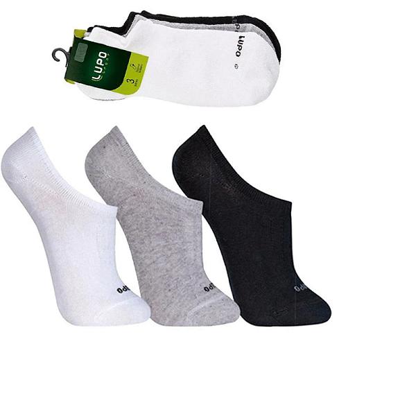 Meia Lupo Sport Kit Com 3 Pares Mista  - Lupo