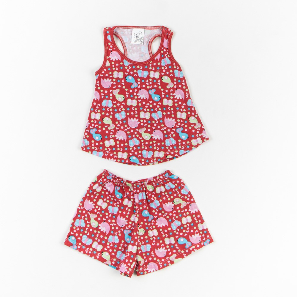 Pijama Em Malha Infantil Regata - Mafessoni