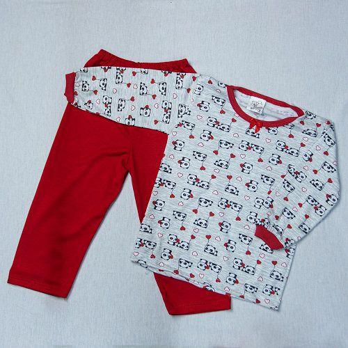 Pijama Infantil De Malha Estampado