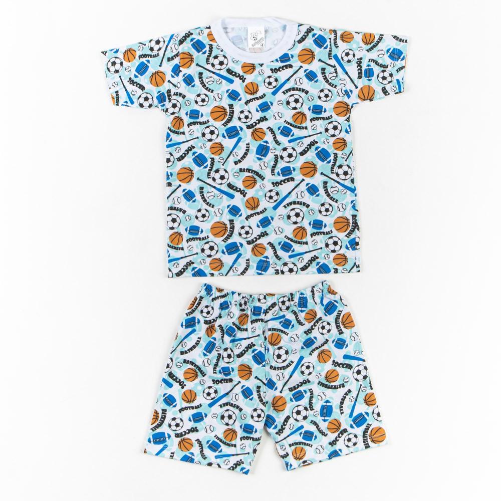 Pijama Infantil Estampado Com Short 4/6 - Mafessoni