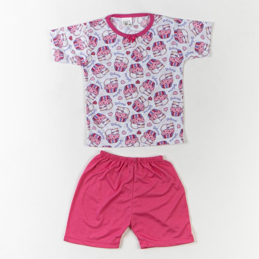Pijama Infantil Malha Verão 1/3 - Mafessoni