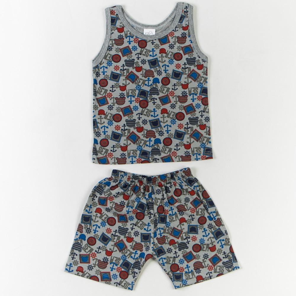 Pijama Infantil Regata Estampado 1/3 - Mafessoni