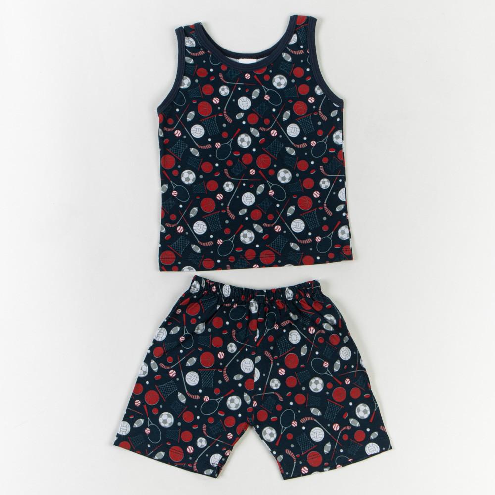 Pijama Infantil Regata Gola V Estampado 1/3 - Mafessoni