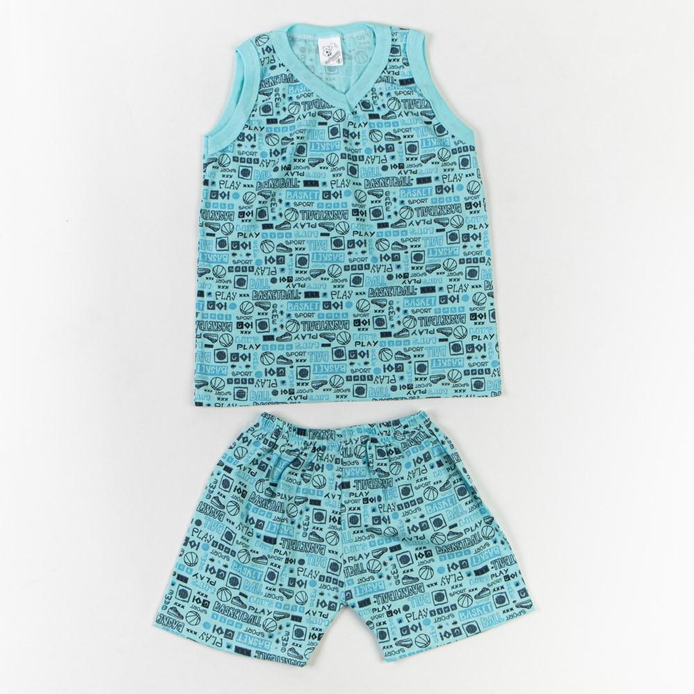 Pijama Infantil Regata Gola V Estampado 4/8 - Mafessoni