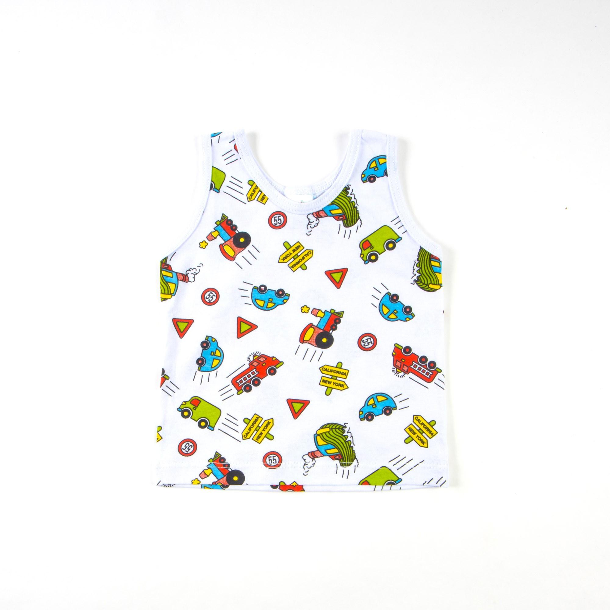 Regata Bebê Com Desenhos P/G - Somalhas