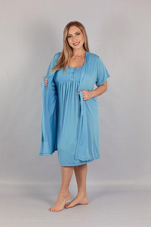 Robe E Camisola Liso Maria Rosa