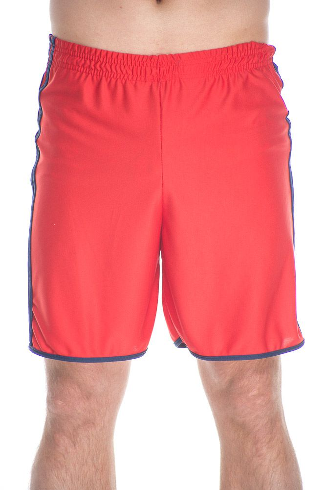 Short Esportivo Com Listras Lateral Vermelho