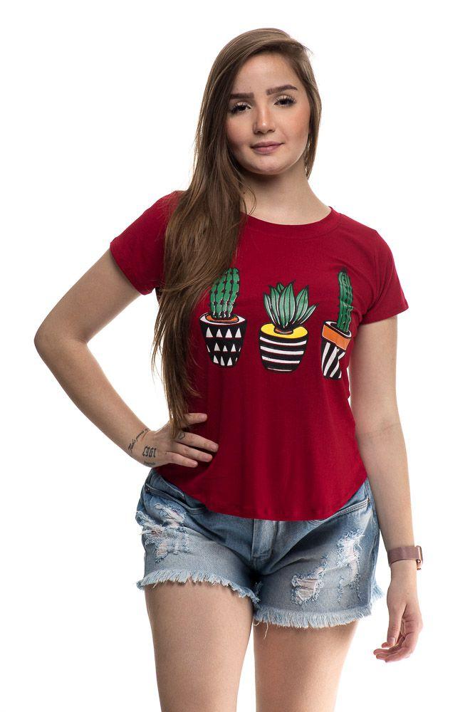 T shirt Cactus Vermelho