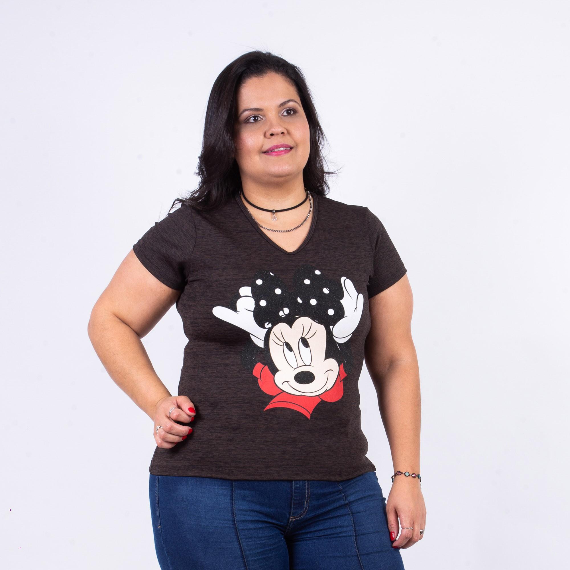 T-shirt Feminina Estampada Helanca