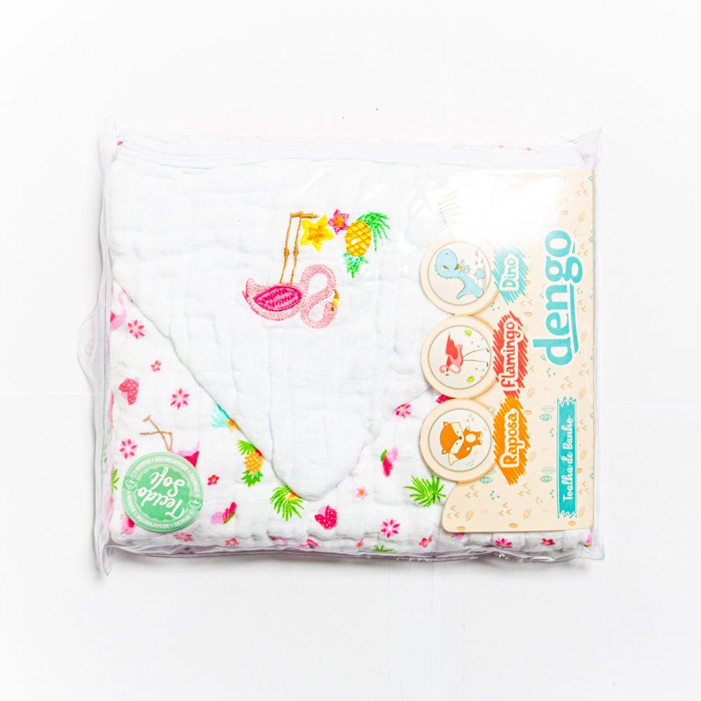 Toalha De Banho Soft Menina Flamingo - Minasrey