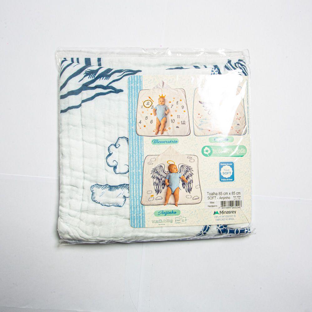 Toalha De Banho Soft Menino Estampado Minasrey