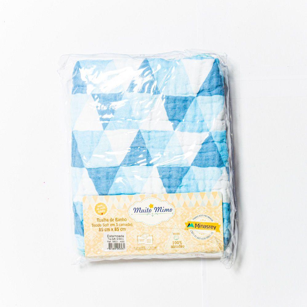 Toalha de Banho Tecido Soft Azul - Minasrey