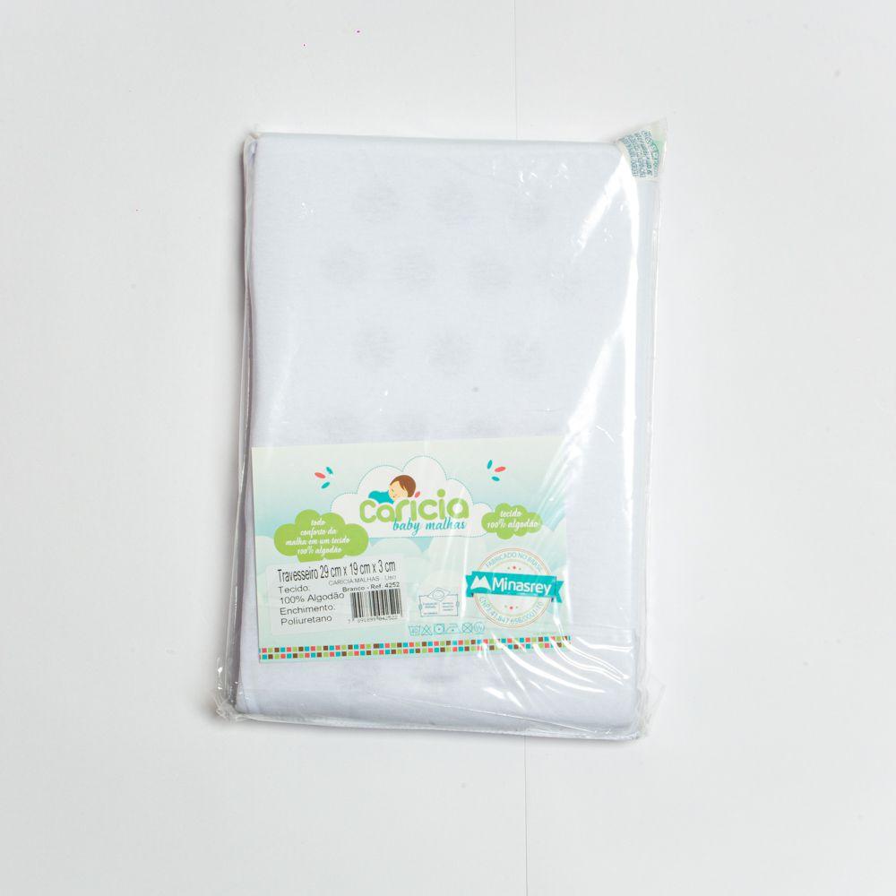 Travesseiro Básico Liso Branco - Minasrey
