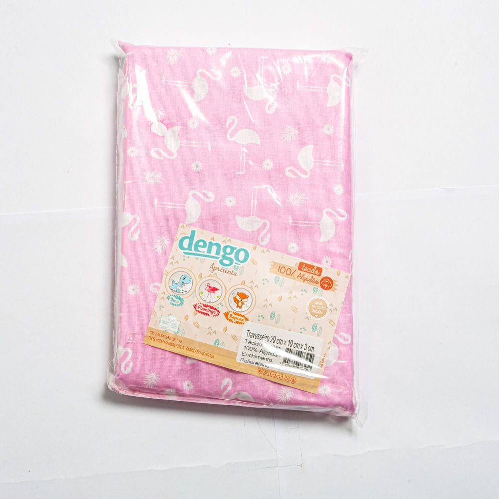 Travesseiro Para Bebê Flamingo - Minasrey