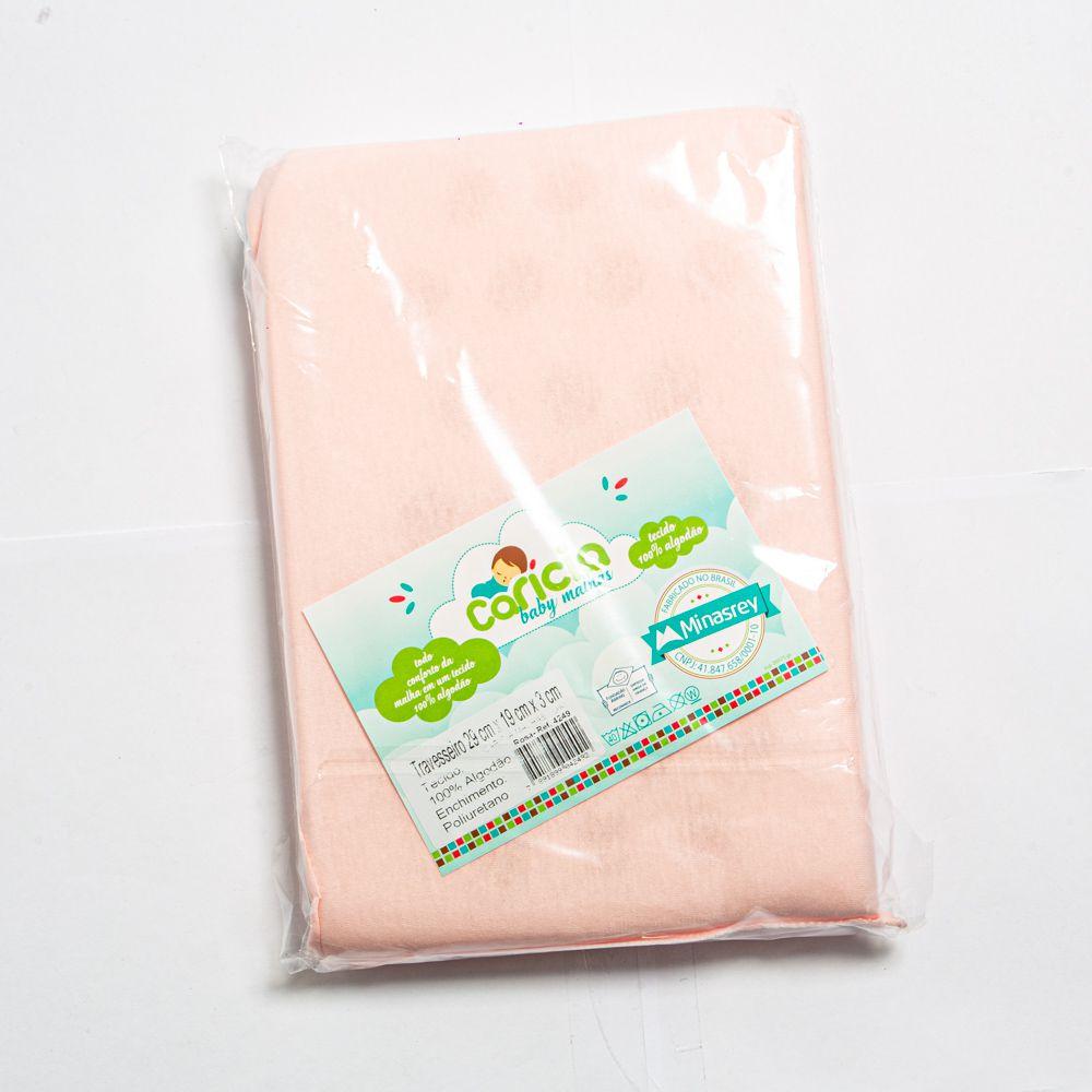 Travesseiro Para Bebê Liso Rosa - Minasrey