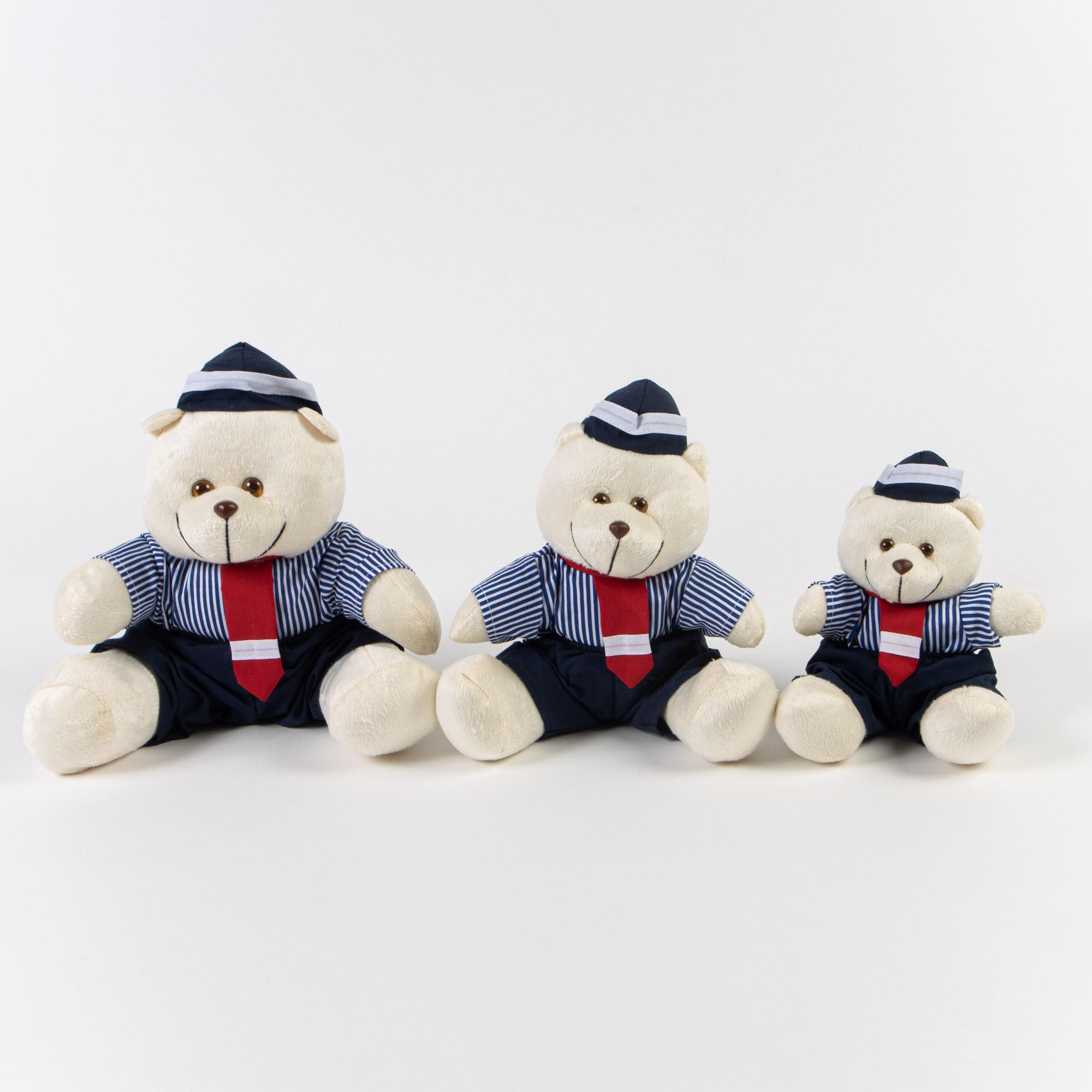 Ursinho De Pelúcia Marinheiro Kit 3 Peças