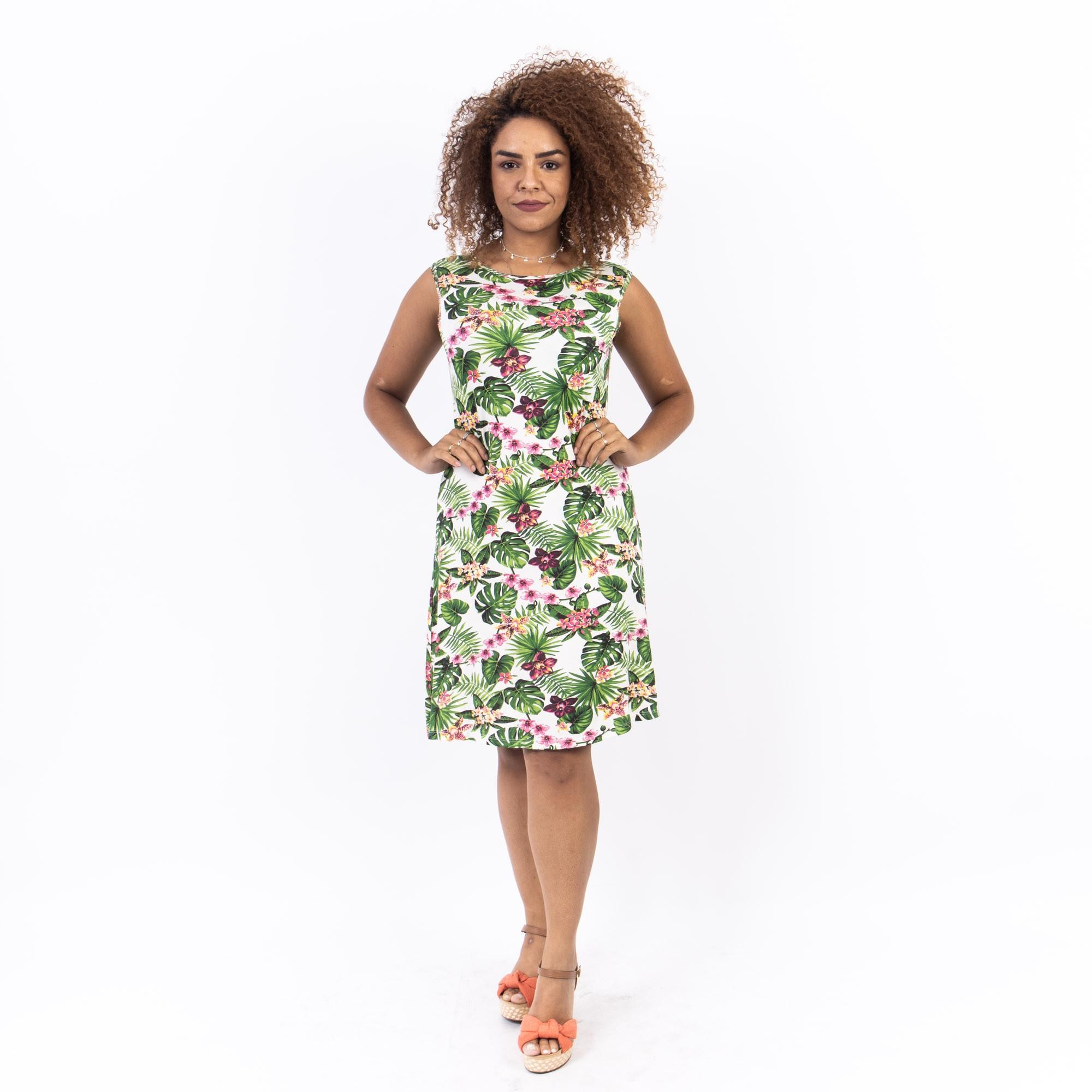 Vestido Floral Regata Curto