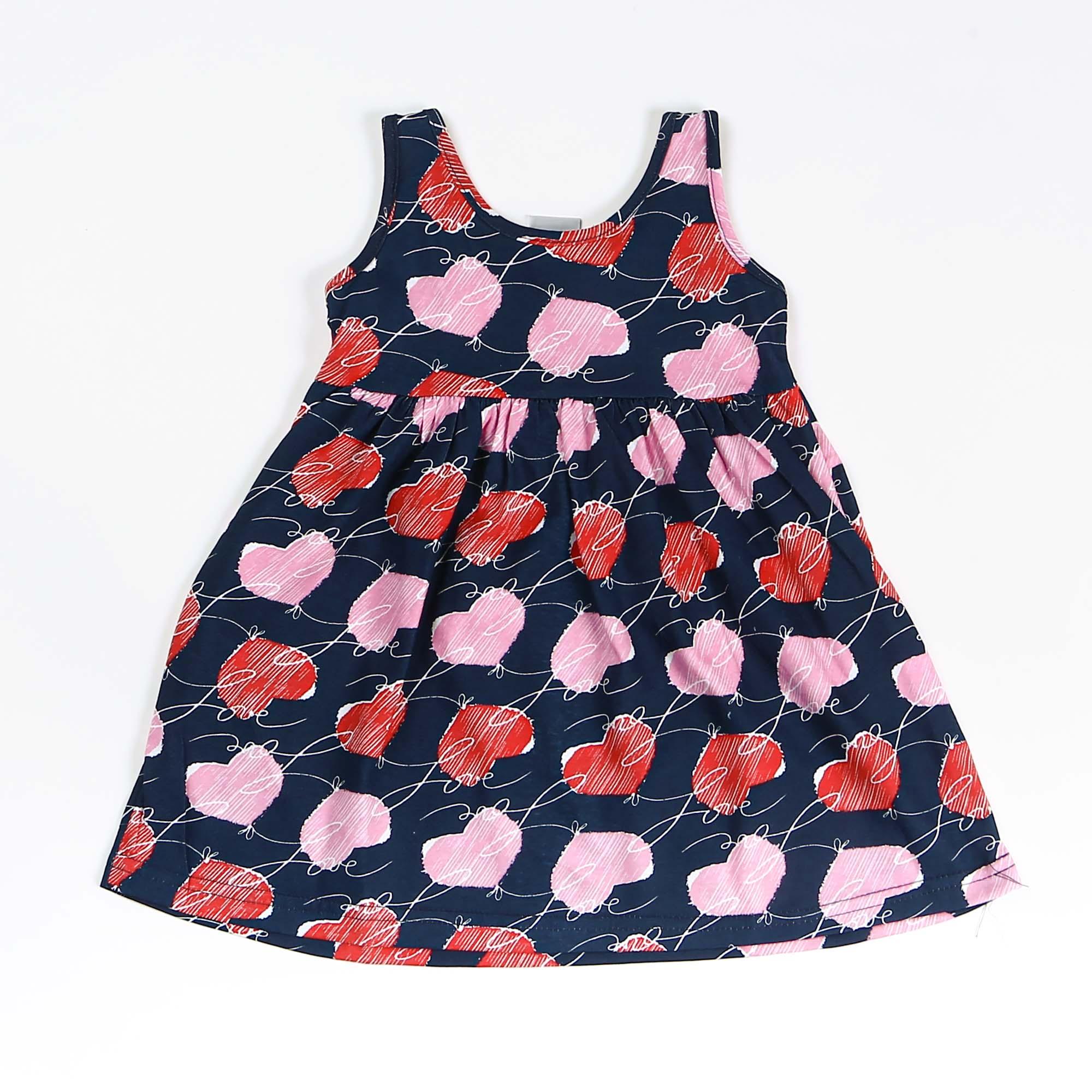 Vestido Regata Infantil Coração
