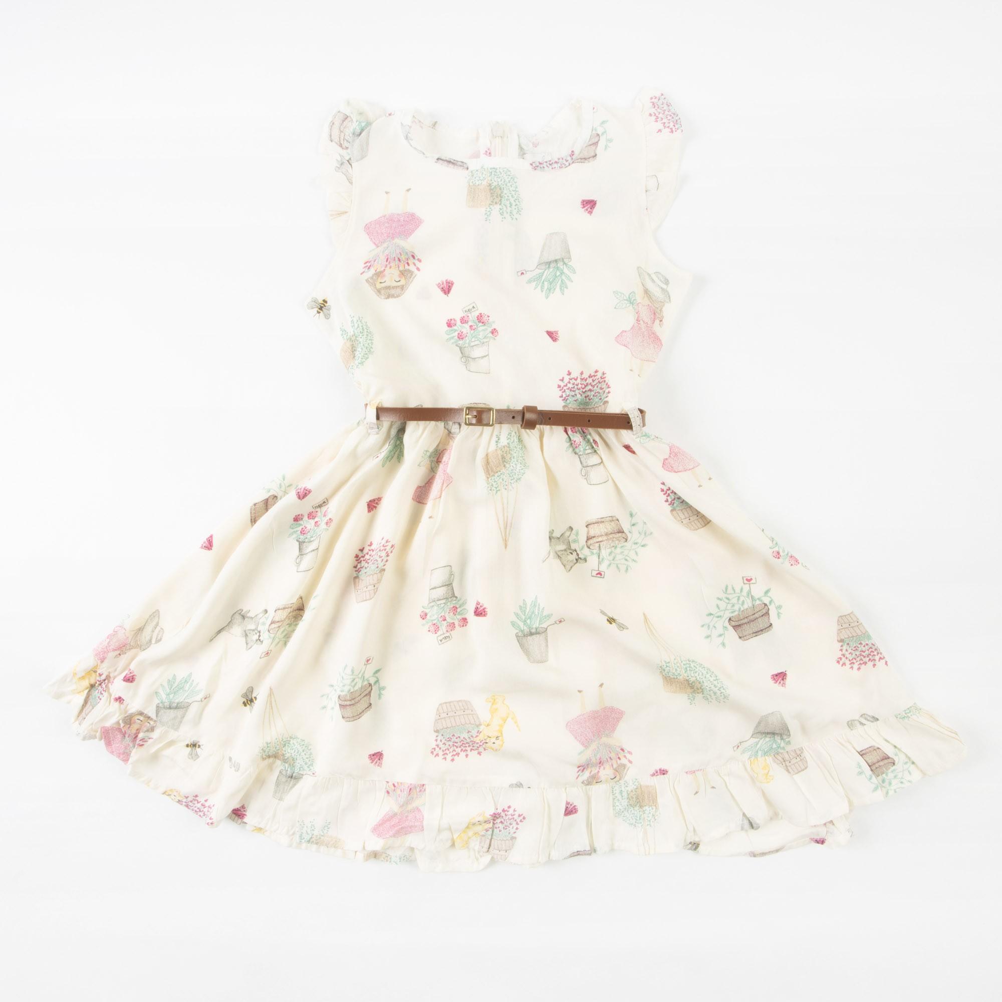 Vestido Infantil Curto Com Cinto