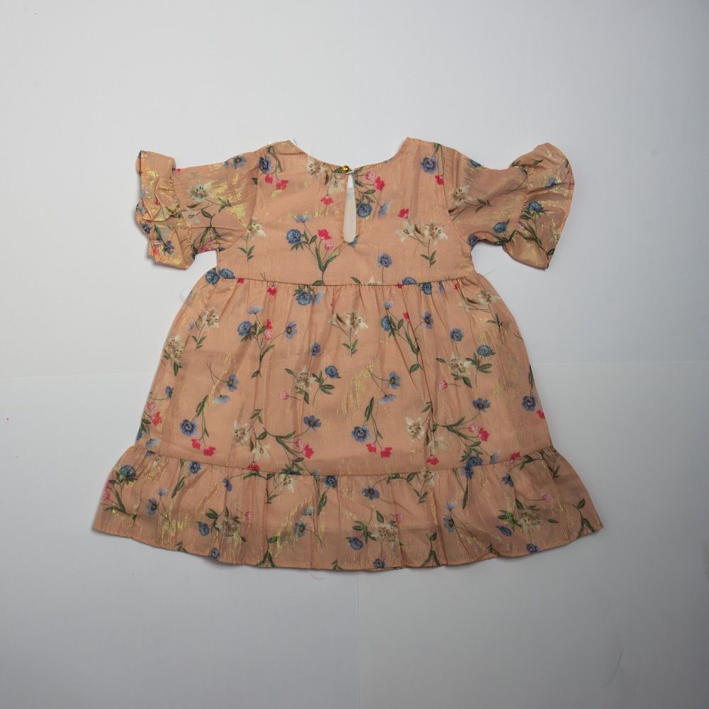 Vestido Infantil Menina Floral Com Com Detalhes Lurex - Mundi