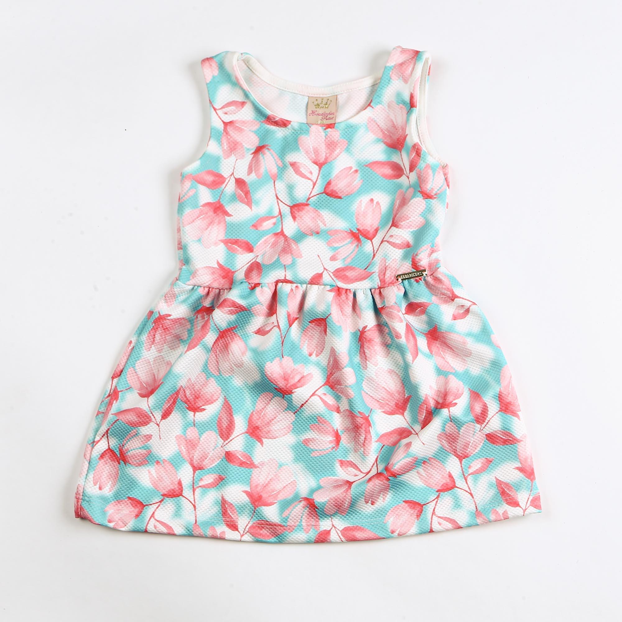 Vestido Infantil Regata Estampa Floral