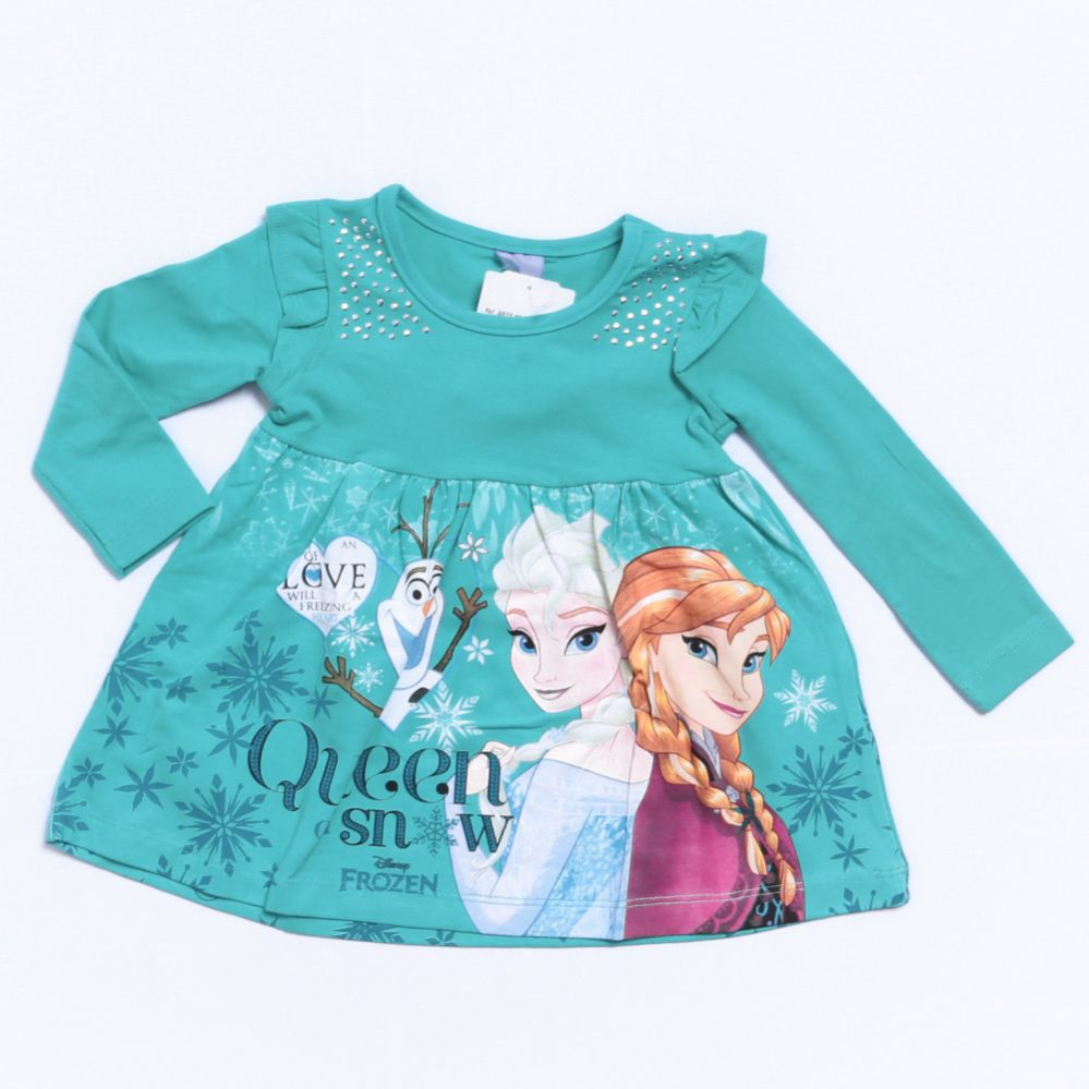 Vestido Manga Longa Frozen - Brandili