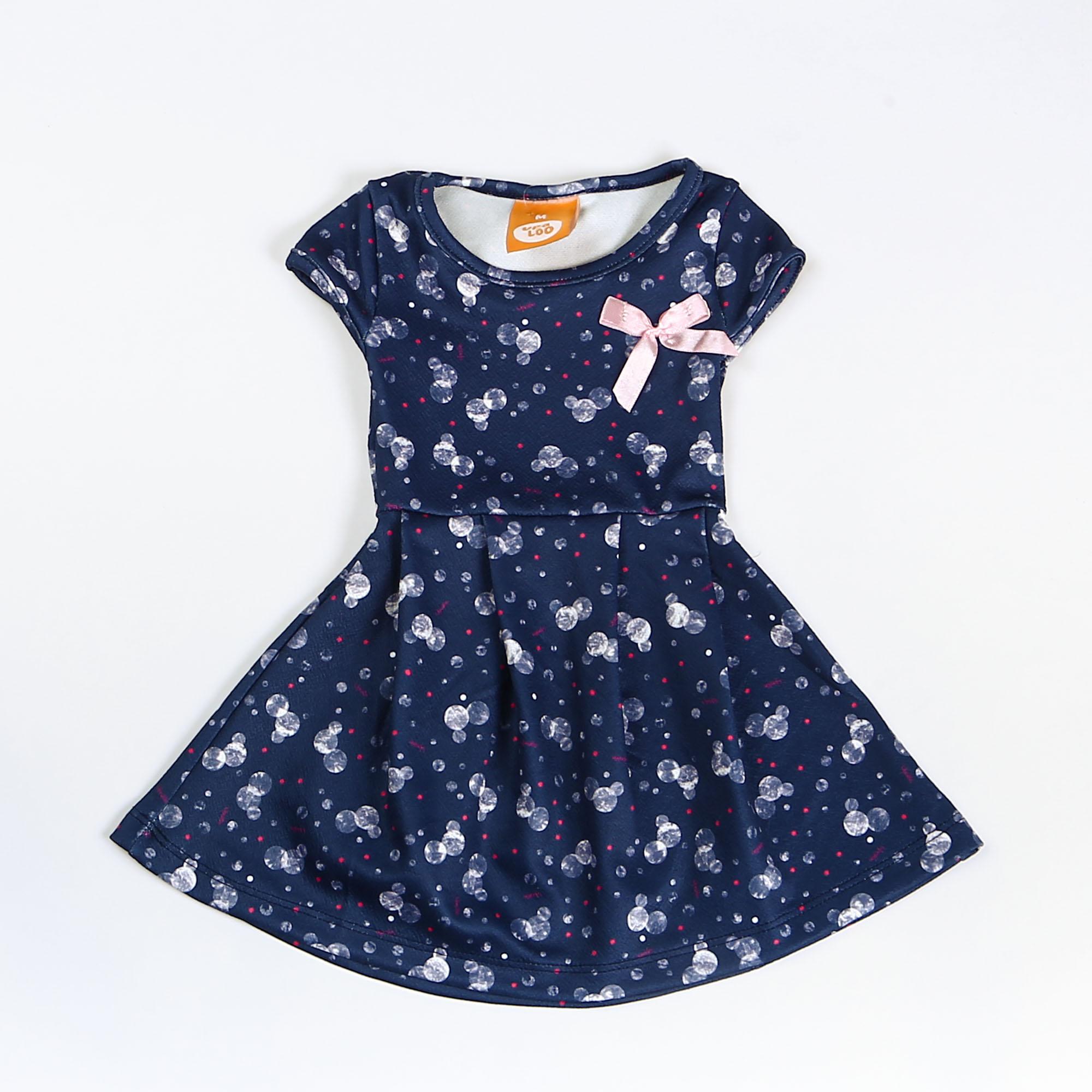 Vestido Para Bebê Com Laço Rosa