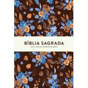 Bíblia NVT Blue Flowers Letra Grande
