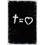 Bíblia NVT Cross Equals Love  B&W Letra Grande