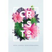 Bíblia NVT Flores Tropicais Cristo Letra Grande
