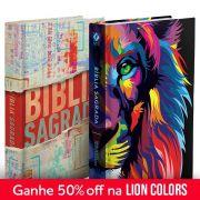 Kit Bíblia NVT Lion Colors + Babel (Letra Normal)