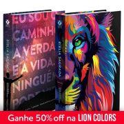 Kit Bíblia NVT Lion Colors + Eu sou o caminho (Letra Normal)