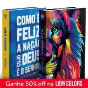 Kit Bíblia NVT Lion Colors + Feliz a nação (Letra Normal)